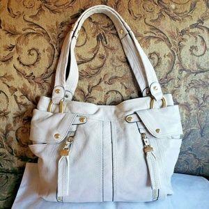 B Makowsky Glove Leather East West Sadie Tote Bag